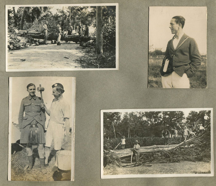 1927 Hurricane damage in Bermuda