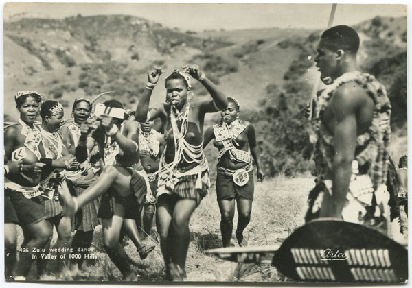 ART PUBLISHERS 496 Zulu wedding dance in Valley of 1000 Hills.
