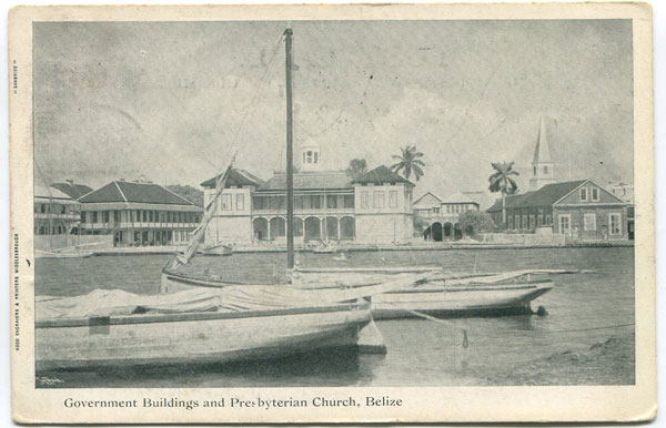 SANBRIDE Governemnt Buildings and Presbyterian Church, Belize.