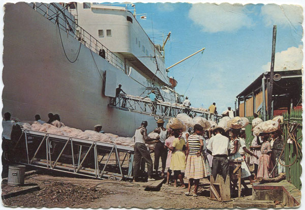 CLARKE & CO Loading Bananas, St Lucia, W.I.