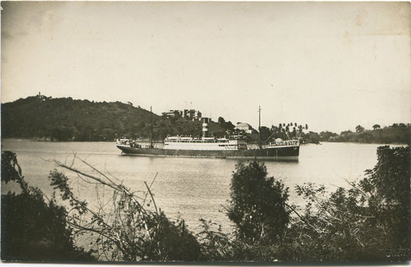 H. HAYNES Ship arriving at St Lucia