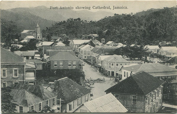 H.S. DUPERLY Port Antonio showing Cathedral, Jamaica.