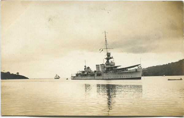 ANON HMS Cairo at St Lucia 12.4.28