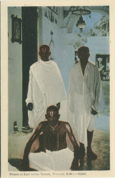 PECO Priests at Indian Temple, Trinidad, B.W.I. - 25564