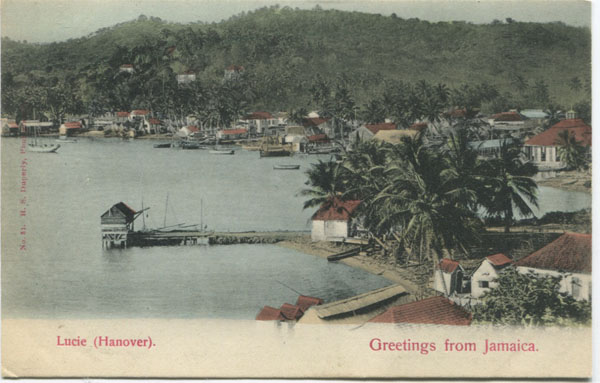 H.S. DUPERLY No 31. Lucie (Hanover). Greetings from Jamaica