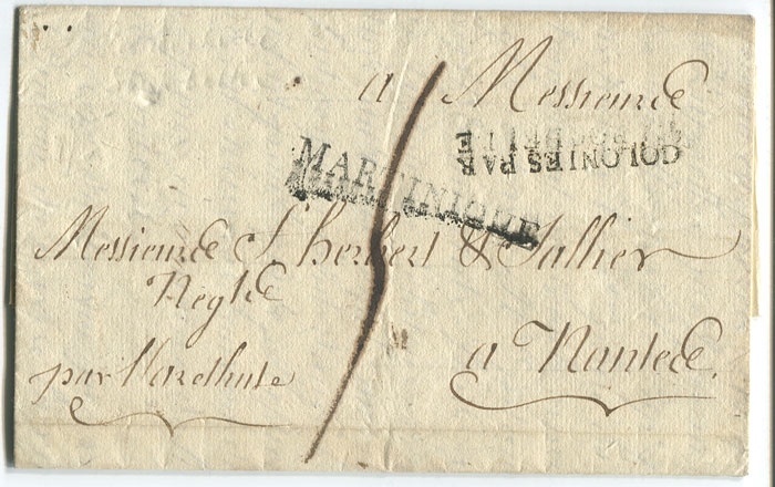 1822 (18 nOV) EL from Martinique to France