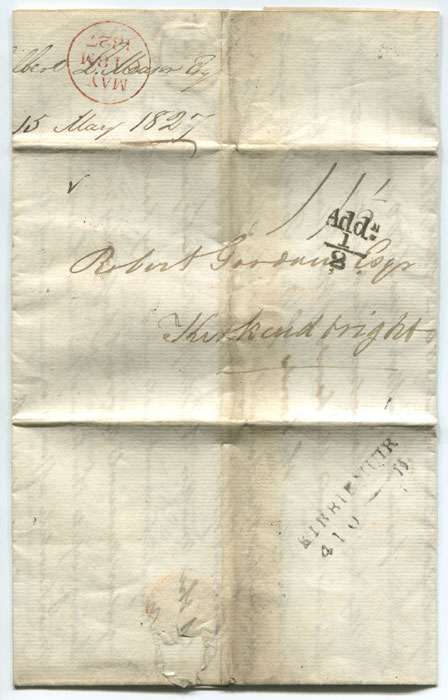 1827 (15 May) EDINBURGH unboxed Add! ½ (H/S14) on EL