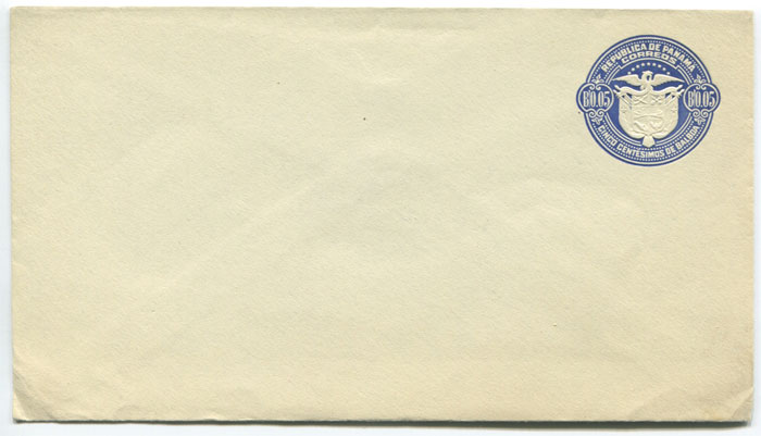 1929 Panama postal stationery B0.05 envelope