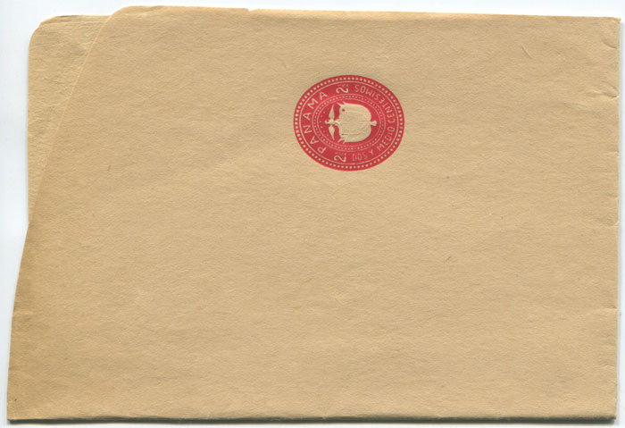 1914 Panama postal stationery 2½c red wrapper