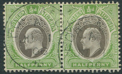 1906 FORCADOS, Southern Nigeria postmark