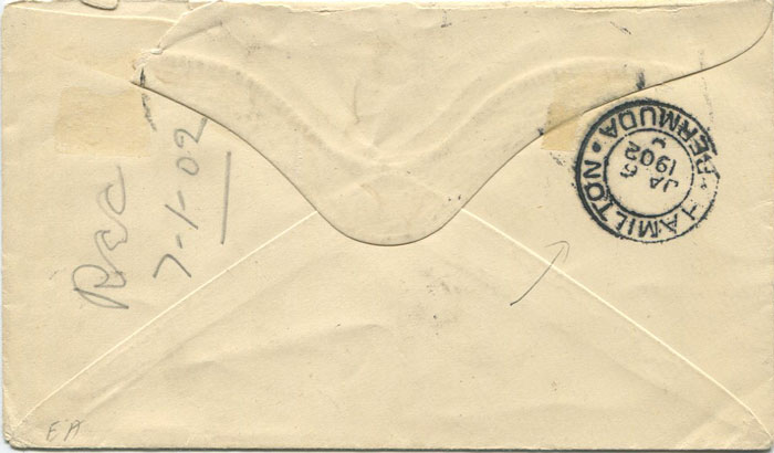 1901 (22 Nov) Bermuda Boer War cover on Morgans Island