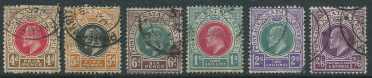 1902-3 Natal Crown CA set to 2/- (SG127-37)