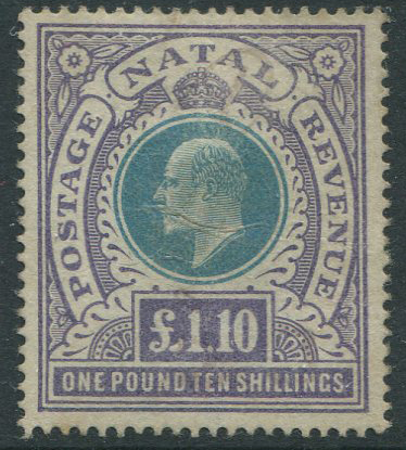 1902 Natal Crown CC £1.10s (SG143)