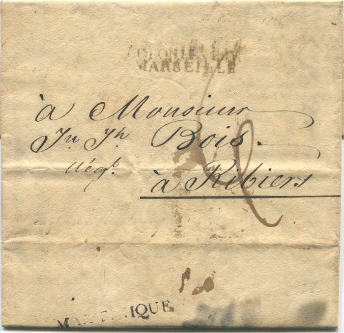 1815 (10 Jan) MARTINIQUE straight line h/s