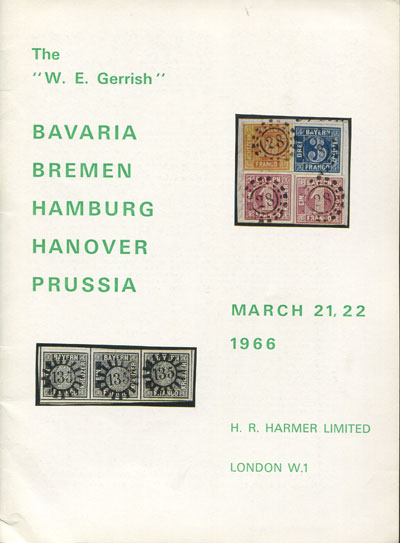 1966 (21-22 Mar) W.E. Gerrish Bavaria, Bremen, Hamburg, Hanover and Prussia.