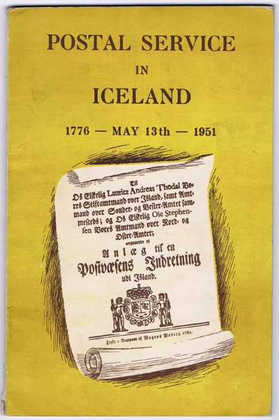 ANON Postal Service in Iceland 1776 - May 13th - 1951.