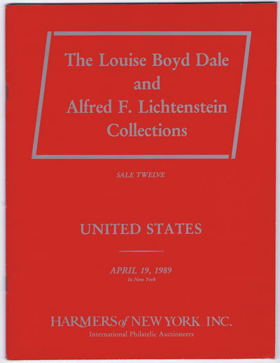 1989 (19 Apr) Louise Boyd Dale and Alfred F. Lichtenstein Collections of United States.