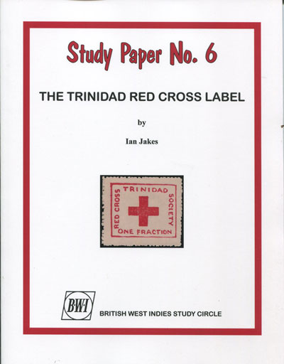 JAKES Ian The Trinidad Red Cross Label.