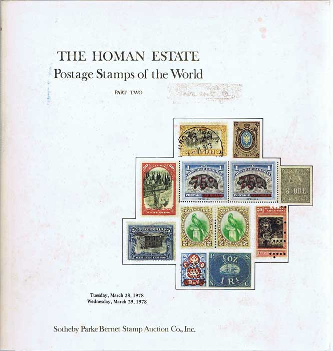 1978 (28-29 Mar) The Homan Estate Postage stamps of the World. Part Two