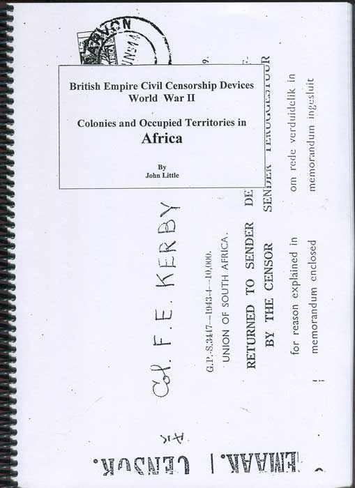 LITTLE John British Empire Civil Censorship Devices World War II - Colonies and Occupied Territiories in Africa