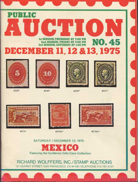 1975 (11-13 Dec) Mexico featuring the Guillermo Celis Cano collection