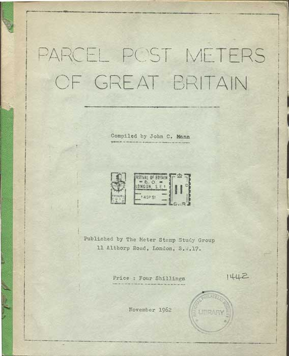 MANN John C. Parcel Post Meters of Great Britain