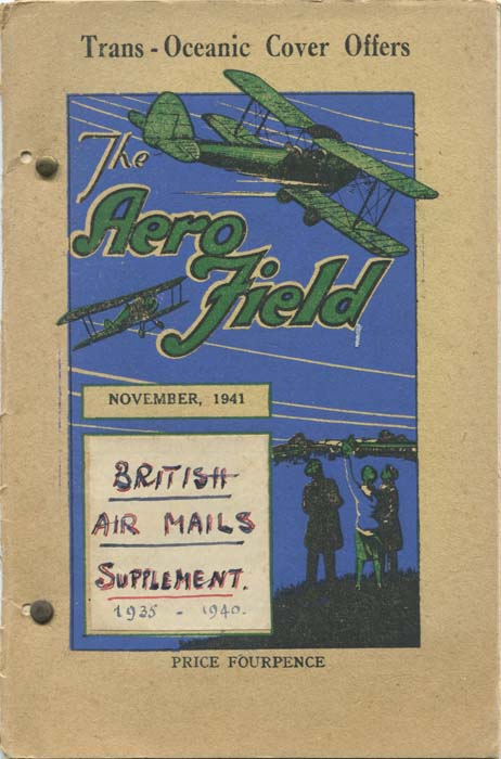 FIELD Francis J. British Air Mails. Supplements.